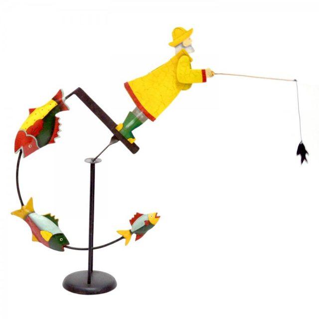Figurină 3d pescar- cadou de la mireasă pentru mire