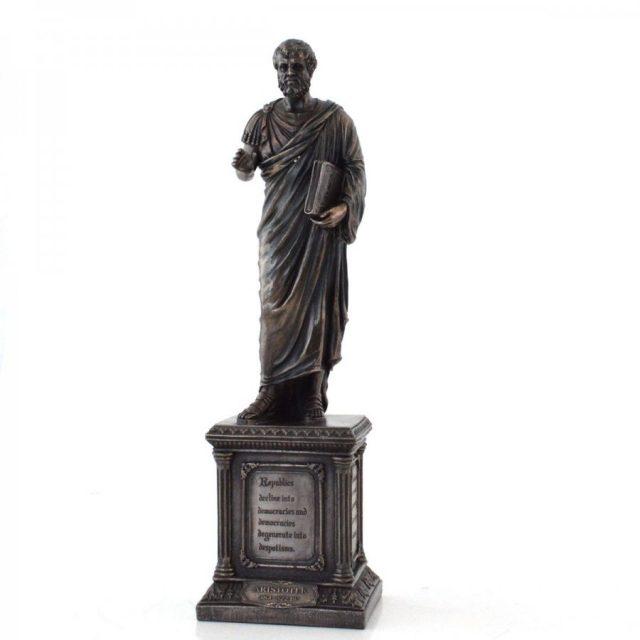 statueta bronz aristotel