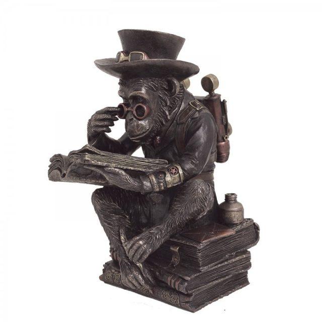 statueta bronz maimuta