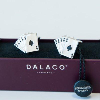 Set butoni pentru camasa 'Carti de joc'