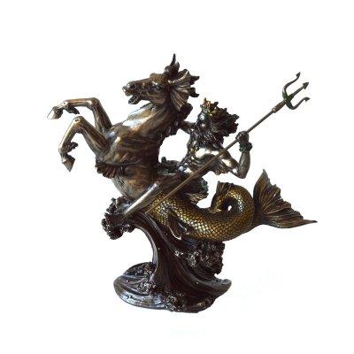 Poseidon, statueta bronz