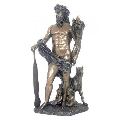 """Faustulus, Remus, Romulus si lupoaica"", statueta bronz"
