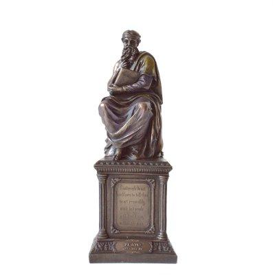 Platon, statueta rasina si bronz