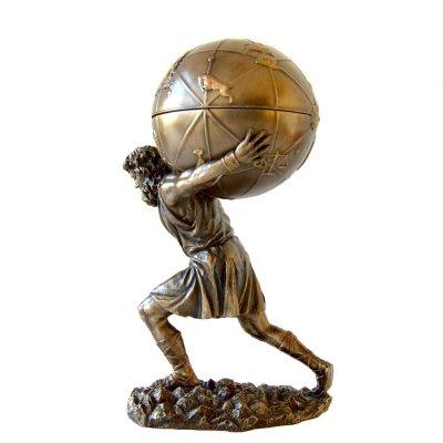 Atlas, statueta bronz