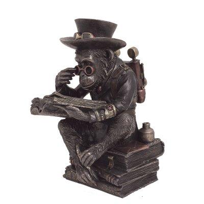 Statueta steampunk, maimuta inteleapta