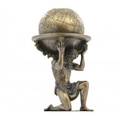 Statueta rasina si bronz 'Atlas'