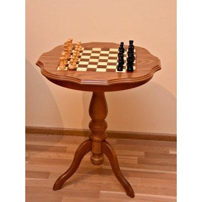 Set de sah cu masa si piese din lemn