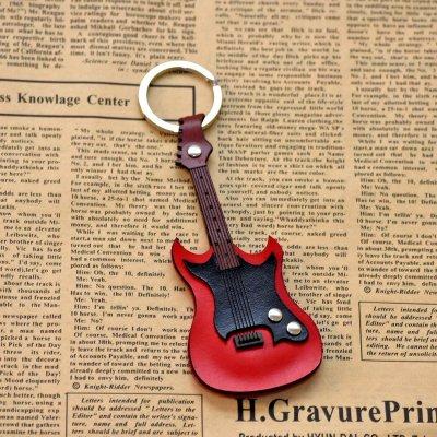Port chei din piele, model chitara electrica