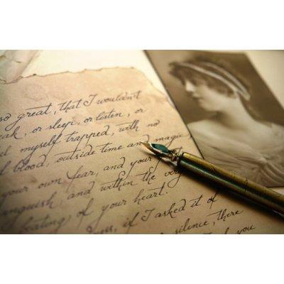 Scrisoare scris caligrafic in plic pentru sot