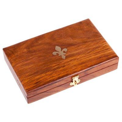 Lupa & cutit pentru scrisori in cutie de lemn