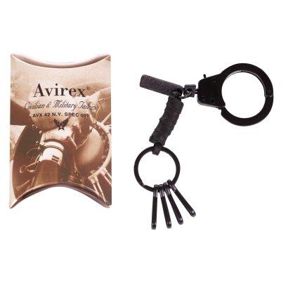 Breloc piele si metal, marca AVIREX