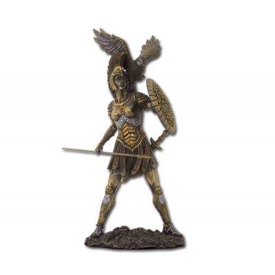 Statueta rasina si bronz, zeita Atena