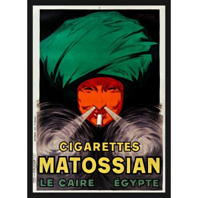 "Tablou ""Cigarettes Matossian Le Caire, Egypte"""