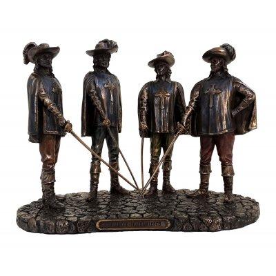Statueta rasina si bronz, D'Artagnan si cei trei muschetari
