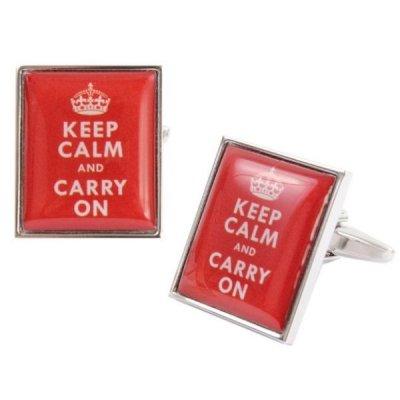 Butoni camasa, model 'Keep Calm and Carry On'