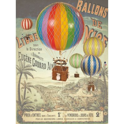 Decoratiune balon zburator - Floating the sky, rainbow