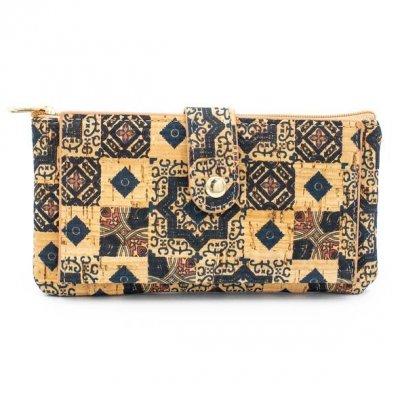 Portofel de dama, model mozaic, cork