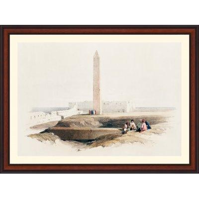 """Tablou """"Obeliscul de la Alexandria, cunoscut si ca Acul Cleopatrei"""""""