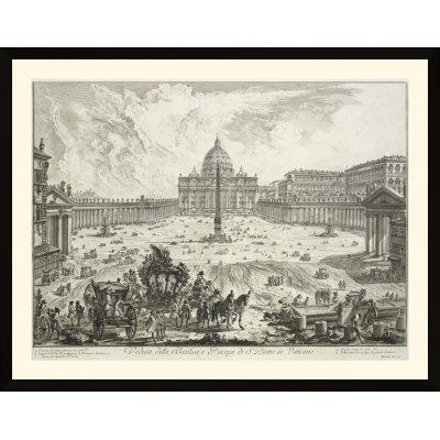 """Tablou """"Veduta della Basilica, e Piazza di S. Pietro in Vaticano"""""""