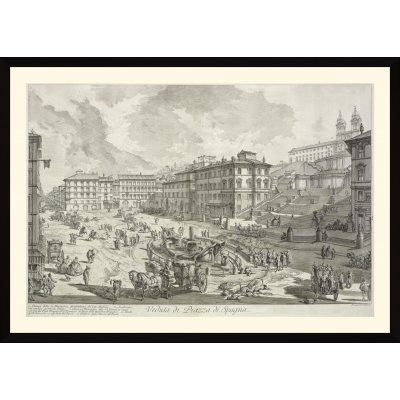 """Tablou """"Veduta di Piazza di Spagna"""""""