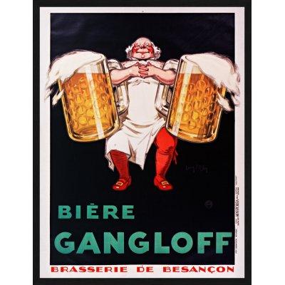 "Tablou ""Bière Gangloff Brasserie de Besançon"""