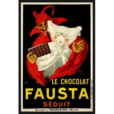 "Tablou ""Le chocolat Fausta Seduit"""