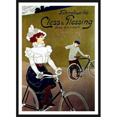 """Tablou afiș """"Cless & Plessing""""- roți fără spițe"""