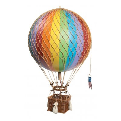 Decoratiune balon zburator Royal Aero - curcubeu