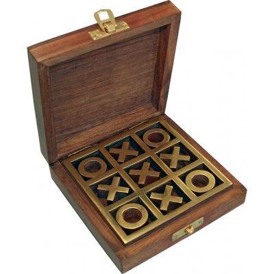 "Joc ""X si O"" in cutie lemn"