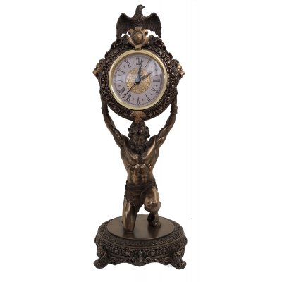 Statueta rasina si bronz, Atlas cu ceas