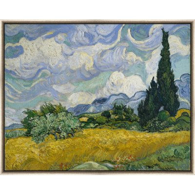 """Tablou """"Lanuri de grâu cu chiparoși"""" Vincent Van Gogh"""