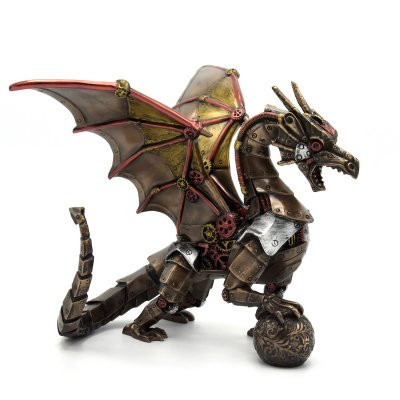 Statueta rasina si bronz 'Dragon'
