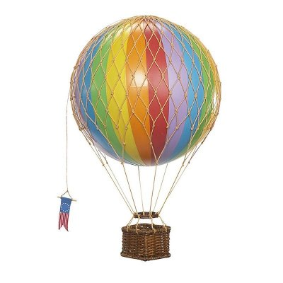 "Decoratiune balon zburator ""Travels light"" -curcubeu"