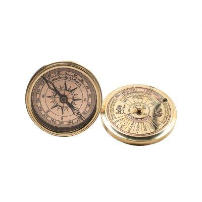 Calendar retro & busola, 40 ani, auriu