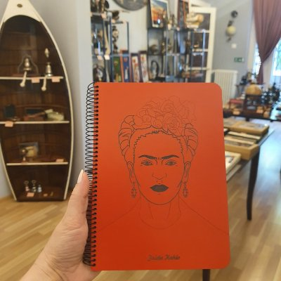 "Notebook coperta lemn model ""Frida"""