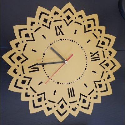 Ceas de perete din lemn model mandala