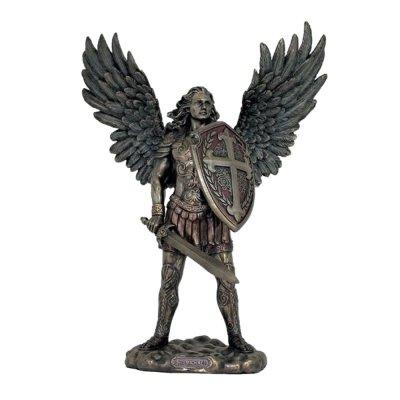 Statueta arhanghelul Mihail cu sabie si scut