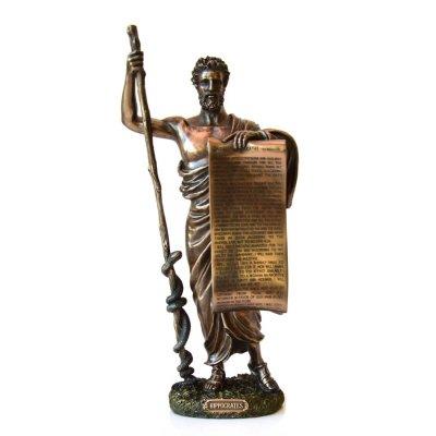 Statueta rasina si bronz, Hipocrat