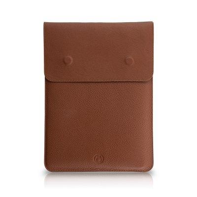Husa MacBook laptop 15 inch piele naturala maro