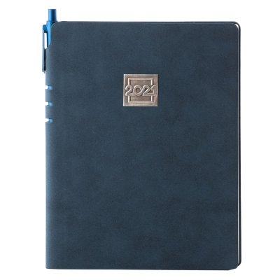 Agenda nedatata 2021 Nubuk, albastru