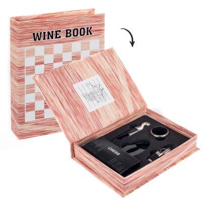 Set 4 accesorii vin si piese de sah