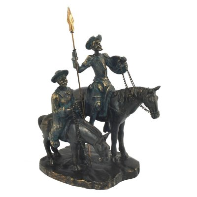 Decoratiune Don Quixote si Sancho Panza, pe cal