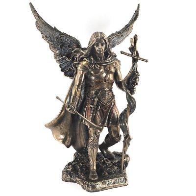 Statueta rasina si bronz, Sfantul Gabriel