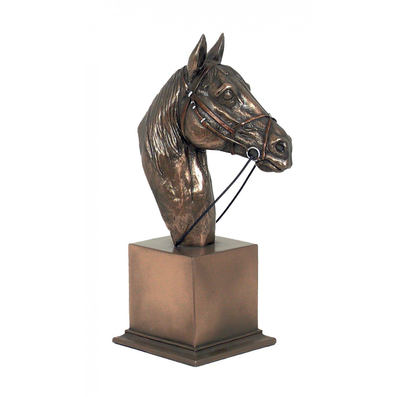 Cal - statueta rasina si bronz