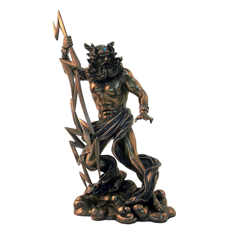 Statueta rasina si bronz Zeus