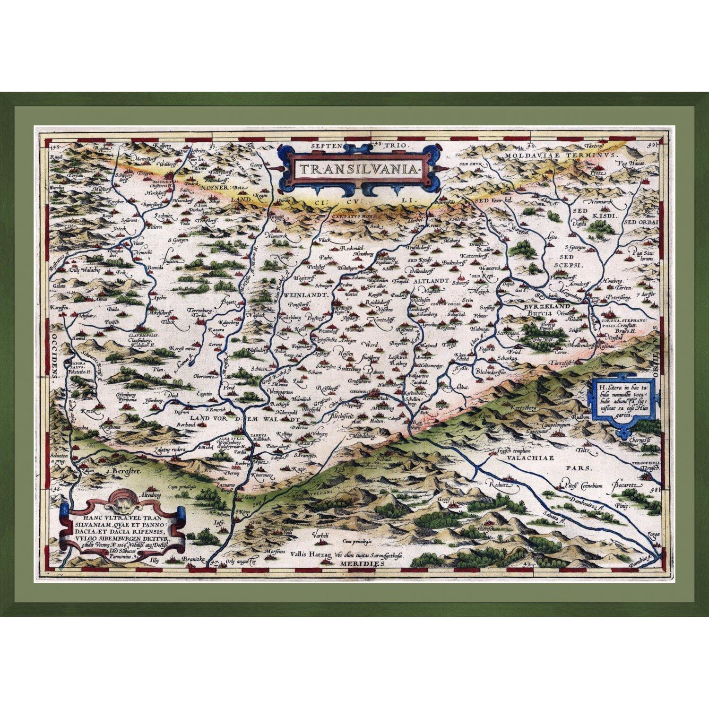 Harta veche a Transilvaniei