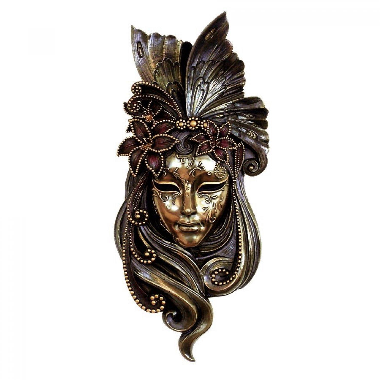 Masca venetiana, rasina si bronz
