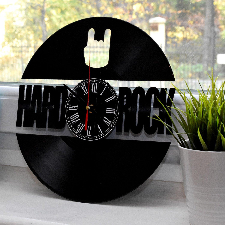 """Ceas pe disc de vinil model """"Hard Rock"""""""