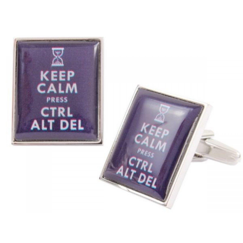 Butoni camasa, model 'Keep calm Press Ctrl Alt Del'