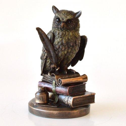 Bufnita, statueta bronz